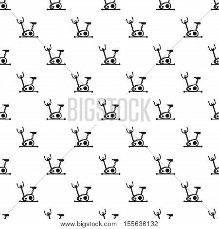Exercise bicycle pattern. Simple illustration of exercise bicycle vector pattern for web