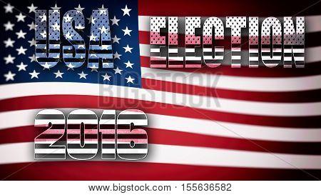 USA 2016 - Beautiful Presidential Election Flag