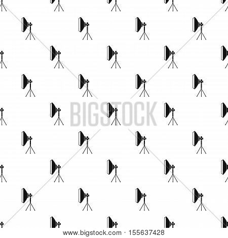 Studio light bulb in softbox pattern. Simple illustration of studio light bulb in softbox vector pattern for web