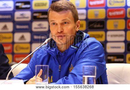 Andriy Shevchenko Press-conference In Kiev, Ukraine