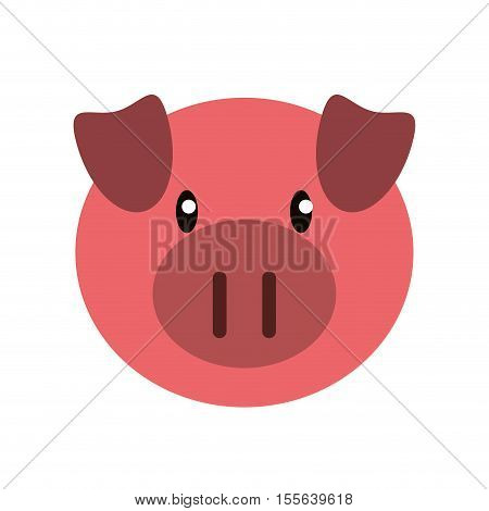 Pork icon. Livestock animal life nature and fauna theme. Isolated design. Vector illustration