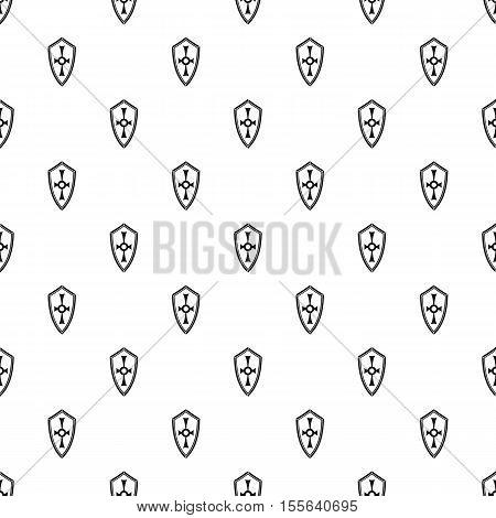 Heraldic shield pattern. Simple illustration of heraldic shield vector pattern for web