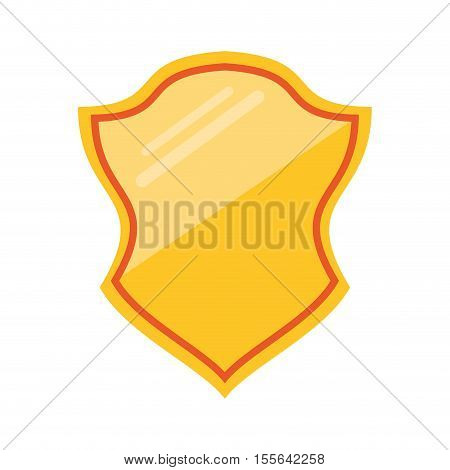 Shield shape icon. Security system protection emblem and decoration theme. Isolated design. Vector illustration