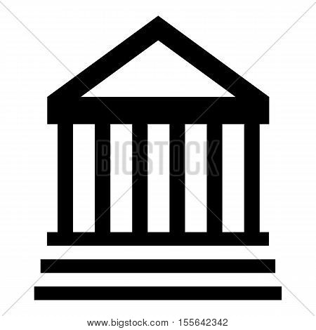 Museum building icon. Simple illustration of museum building vector icon for web design