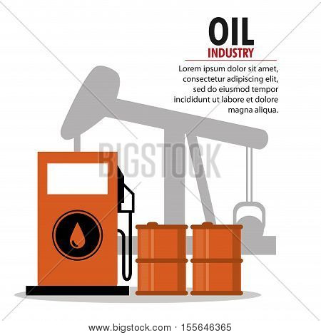 Gasoline pump and oil pump icon. Oil price industry fuel production and gasoline theme. Isolated design. Vector illustration