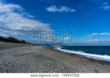Beach, Coastline Of Shizouka, Japan