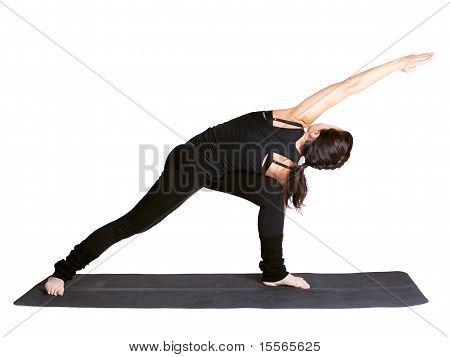 Yoga Excercising Utthita Parshvakonasana