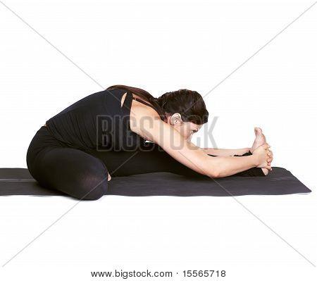 Yoga Excercising Janu Shirshasana