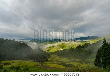 Beautiful Landscape Of Japanese High Mountain Countryside