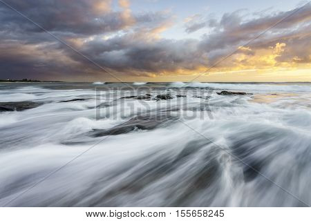 Sunrise at Dicky Beach on the Sunshine Coast, Queensland