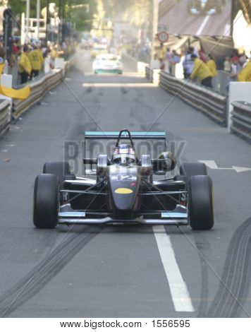 Formula Racer In The City
