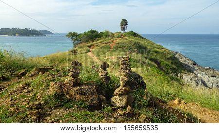 the Phromthep cape at Phuket island near Rawai beach Southern of Thailand
