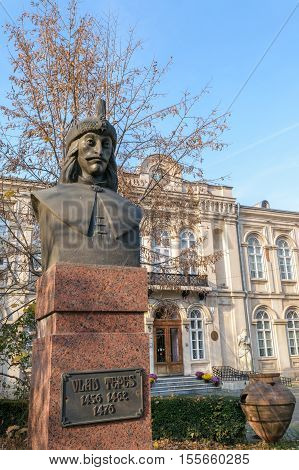 The real Dracula sculpture - romanian ruler Vlad Tepes