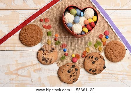Oatmeal Chocolate Cookies And Sweets