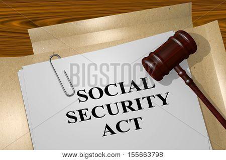 Social Security Act Concept