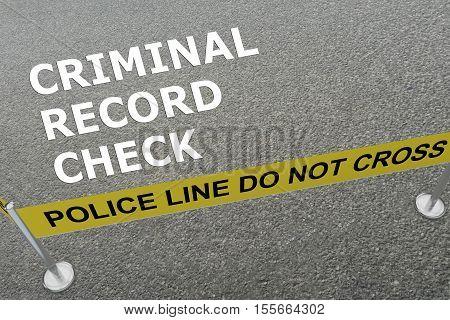 Criminal Record Check Concept