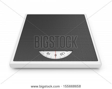 Bathroom weight scale isolated on white background. 3D illustration