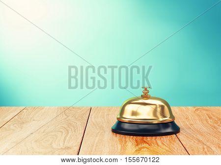 Recepion Bell On Desk