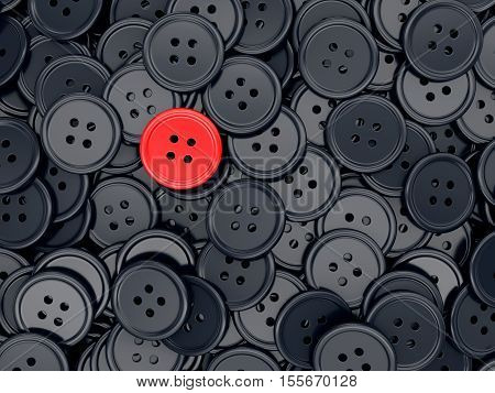 Unique Red Sewing Button