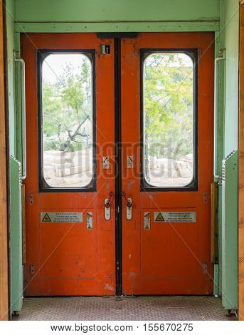 Old Empty Train Carriage