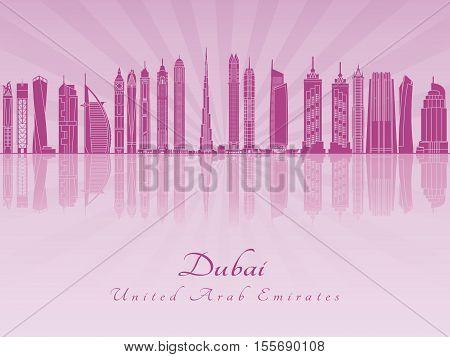 Dubai V2 Skyline In Purple Radiant Orchid