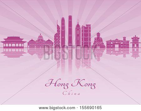 Hong Kong V2 Skyline In Purple Radint Orchid