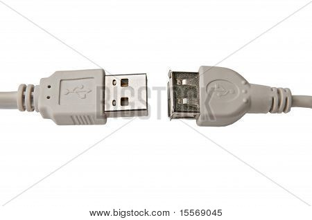 Disconnected Connectors Usb Extension Cable