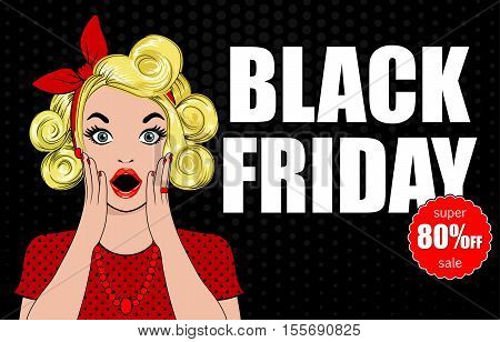 Black Friday sale inscription design template. Black Friday banner.  illustration. Black Friday sale sticker