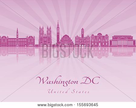 Washington Dc V2 Skyline In Purple Radint Orchid