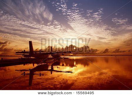 Sunrise At The Seaplane Base
