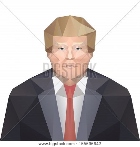 8 nov 2016. 45 th president of the United States - Donald Trump. Vector. Editorial