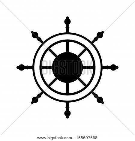 boat sail rudder icon over white background. vector illustration