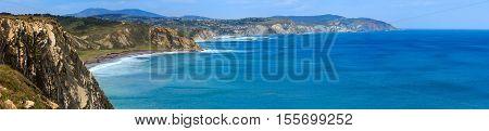 Summer Ocean Coastline View (spain).