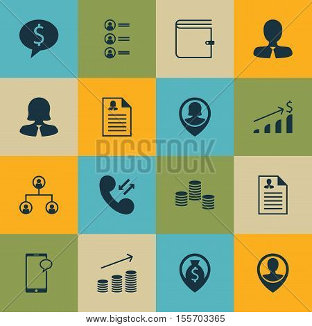 Set Of Hr Icons On Money, Female Application And Cellular Data Topics. Editable Vector Illustration.