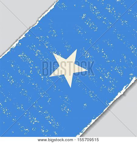Somalian grunge flag diagonal background. Vector illustration.
