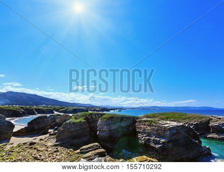 Summer Sunshiny Atlantic Coast And Beach (galicia).