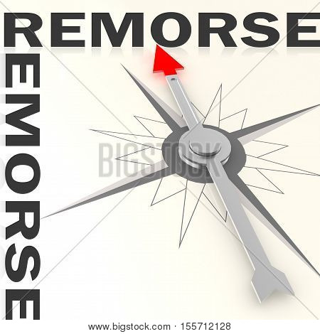 Compass With Remorse Word Isolated