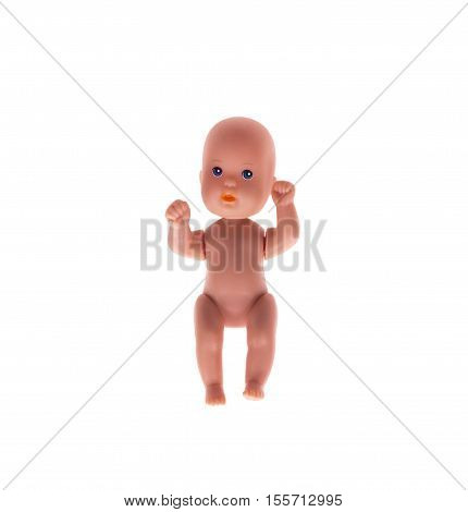Baby doll isolated on the white background