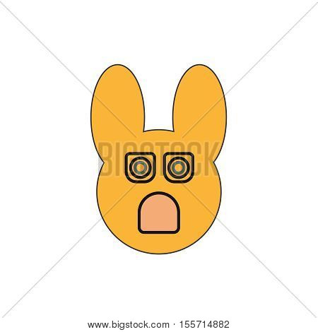 Yellow Rabbit icon,Bunny Popper on white background
