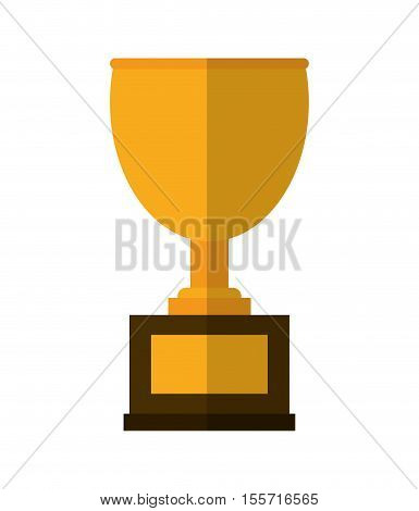 Trophy cup icon. Winner competition success price and award theme. Isolated design. Vector illustration