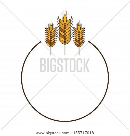 three spikes with circular border vector illustration