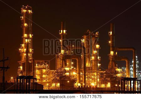 Oil and gas industry - Oil refinery - factory - petrochemical plant