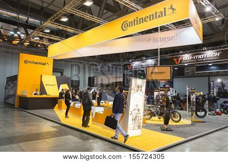 Continental Stand At Eicma 2016 In Milan, Italy