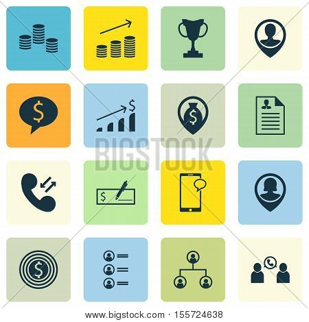 Set Of Human Resources Icons On Job Applicants, Money And Tree Structure Topics. Editable Vector Ill