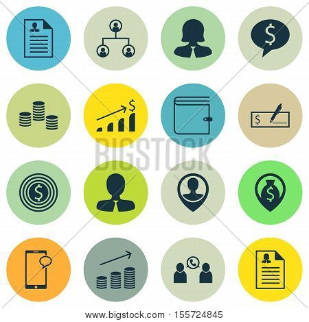 Set Of Hr Icons On Business Woman, Tree Structure And Manager Topics. Editable Vector Illustration.