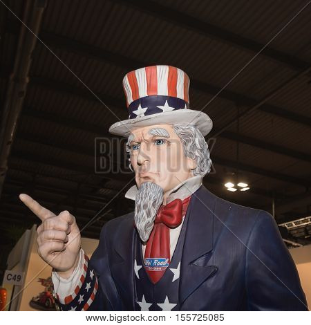 Uncle Sam Statue At Eicma 2016
