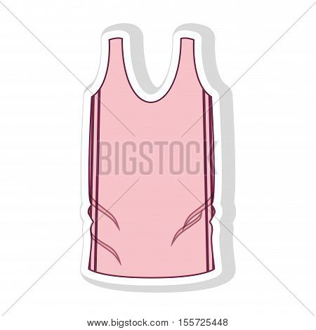 man undershirt with shadow border and vertical lines vector illustration