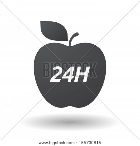 Isolated Apple Fruit With    The Text 24H