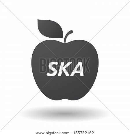 Isolated Apple Fruit With    The Text Ska