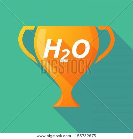 Long Shadow Award Cup With    The Text H2O